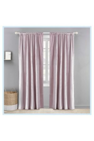 velvet pink curtains
