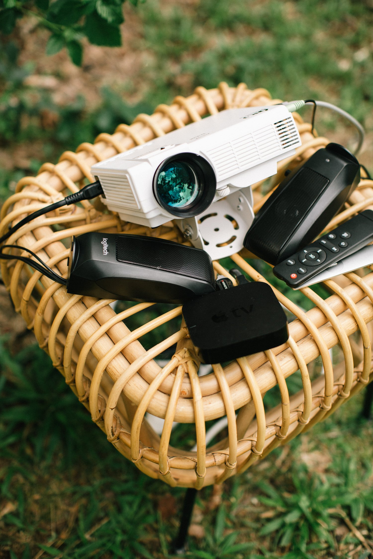 outdoor movie projector