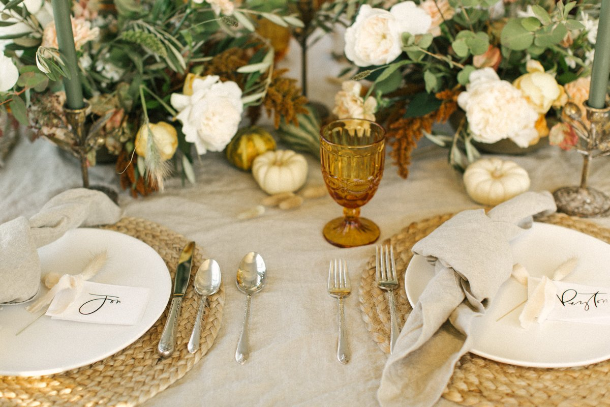 Thanksgiving Decorations table setting-9479