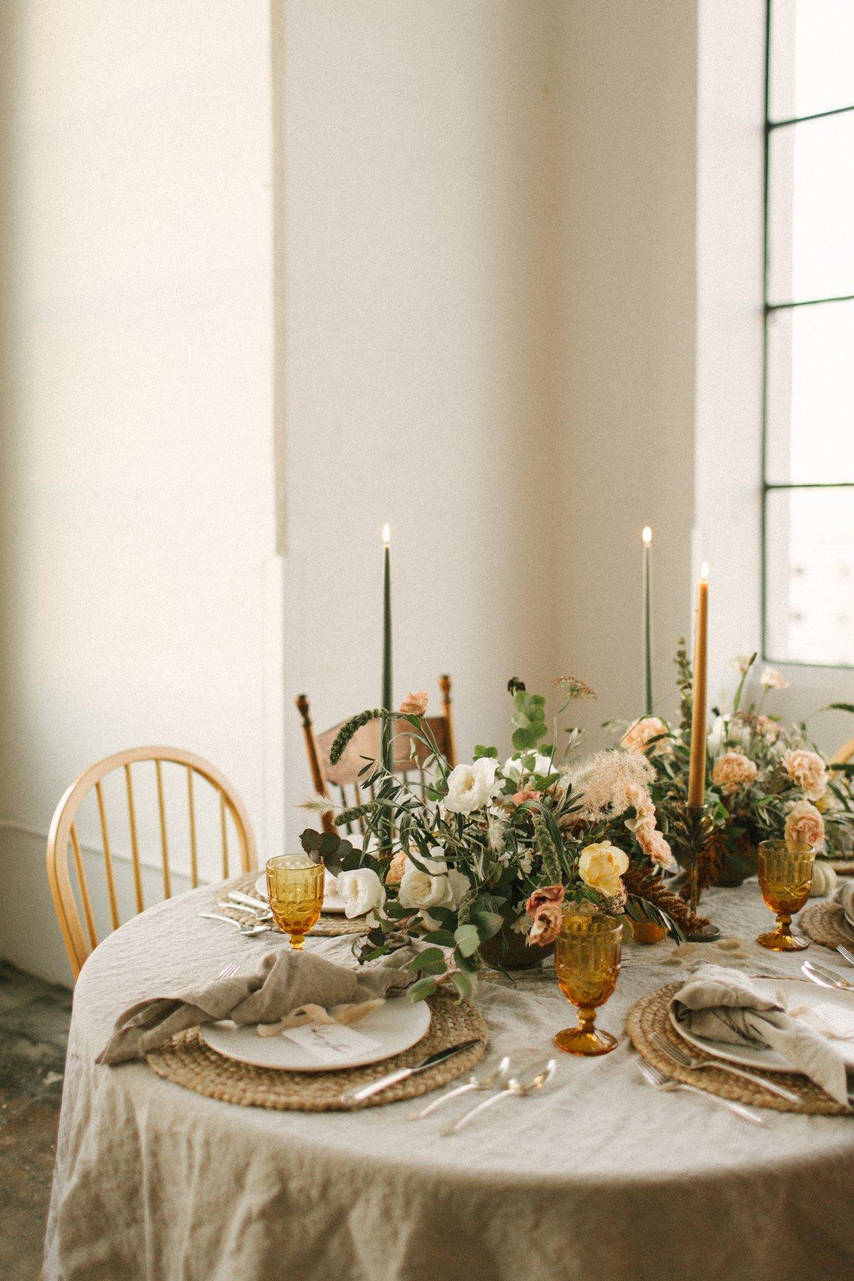 Thanksgiving dinner table-9513