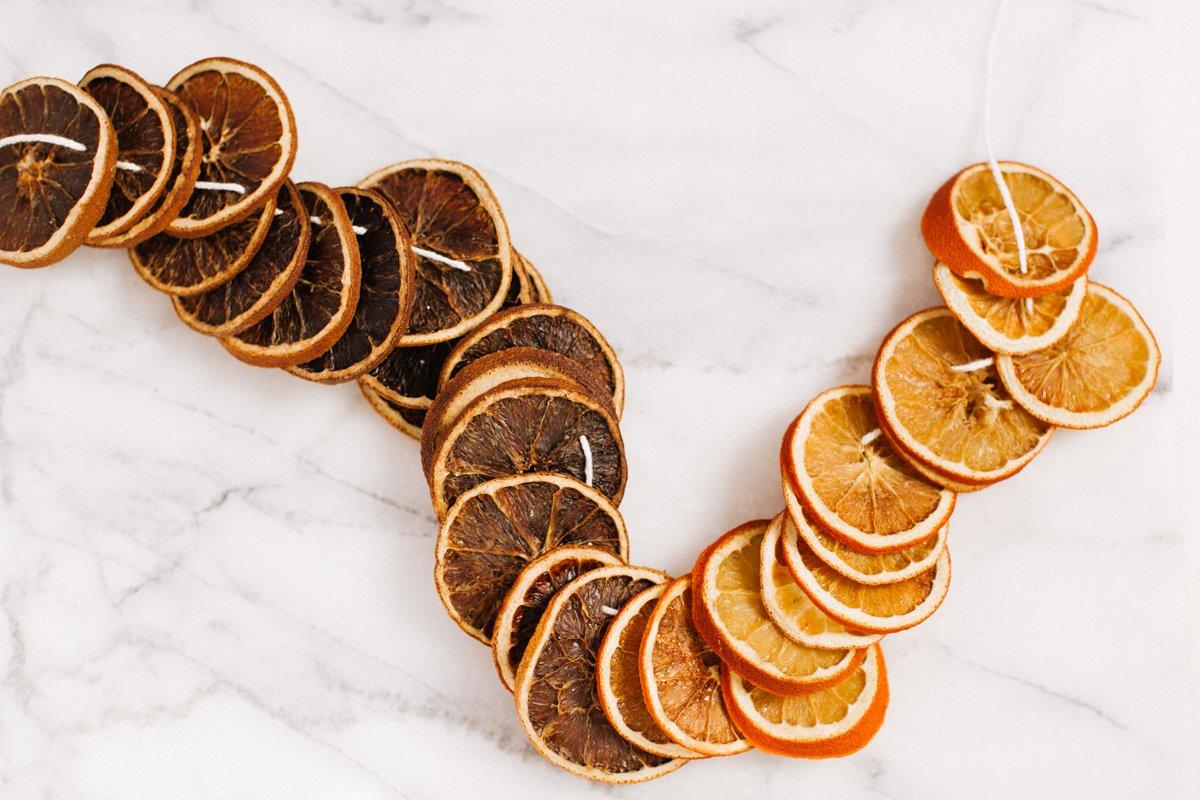 diy orange garland