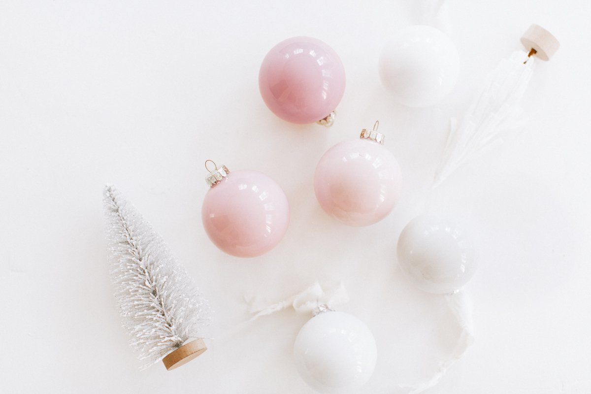 paint filled ornaments