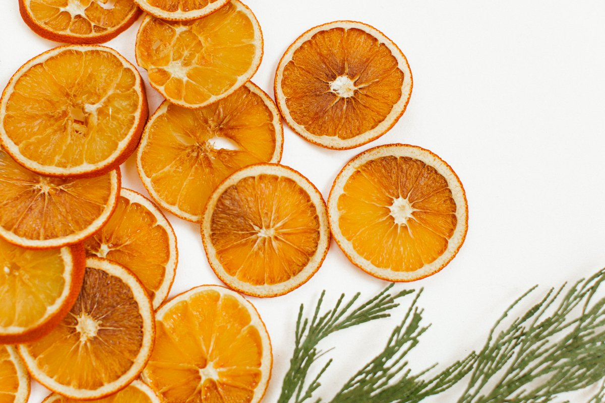 orange garland diy