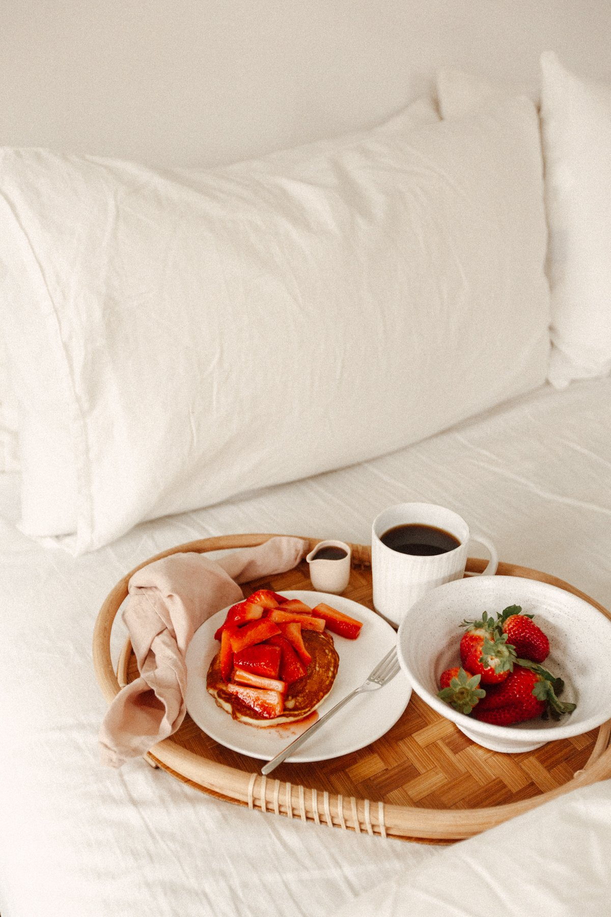 breakfast for two in bed