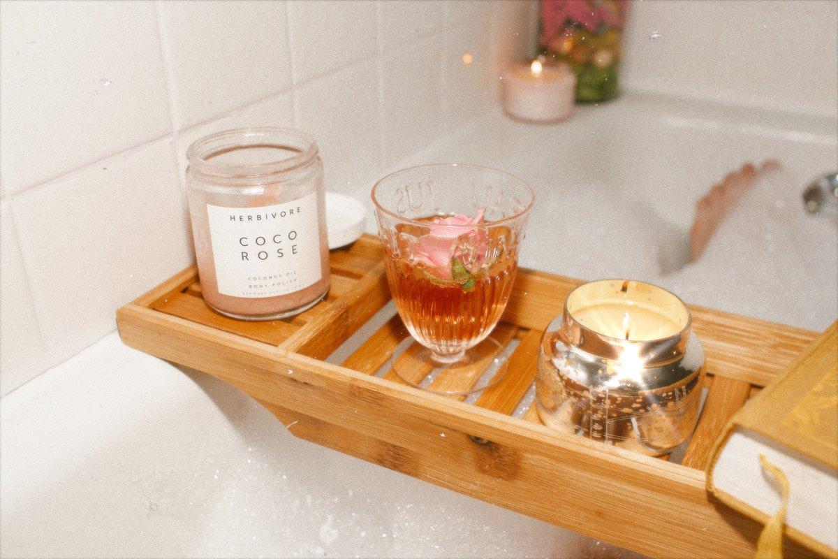 spa night at home bubble bath