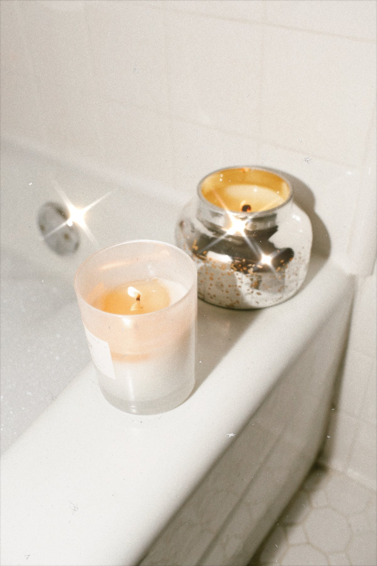 spa night at home with Anthropologie candles