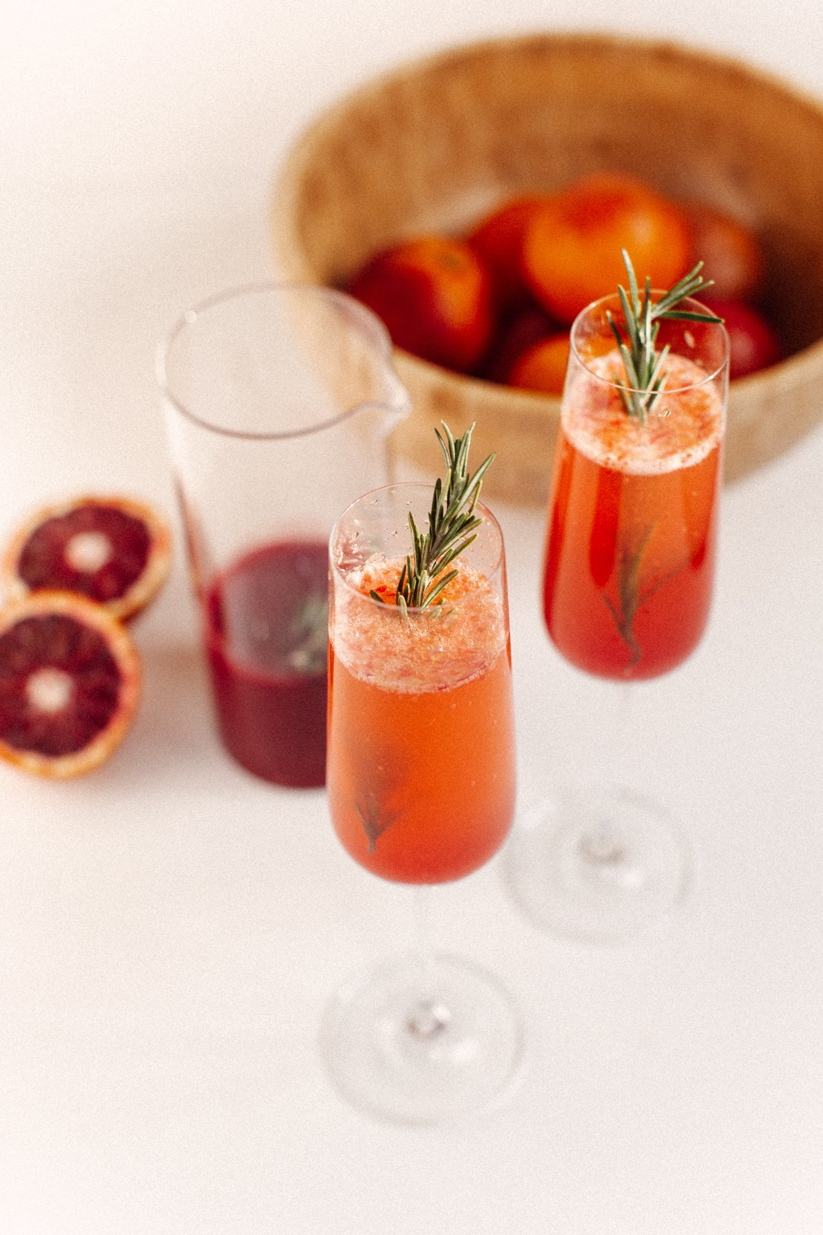 homemade blood orange mimosas