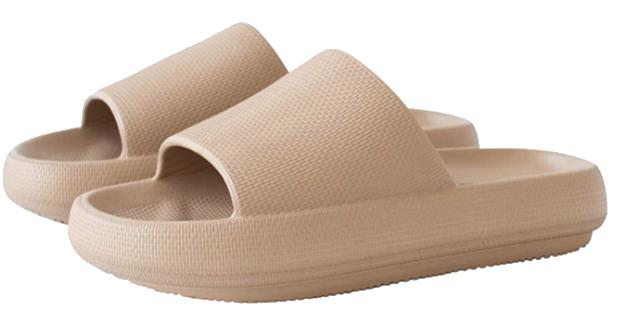 tan comfortable sandal slides amazon