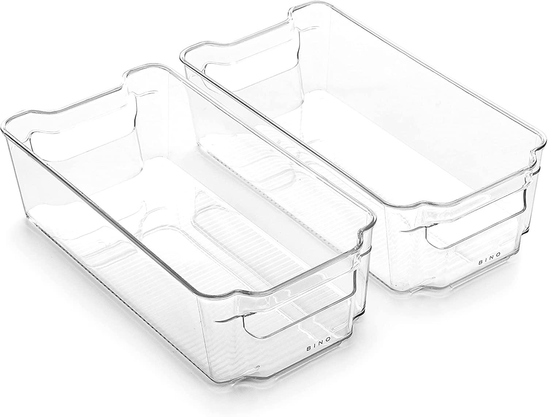 plastic refrigerator organization bins