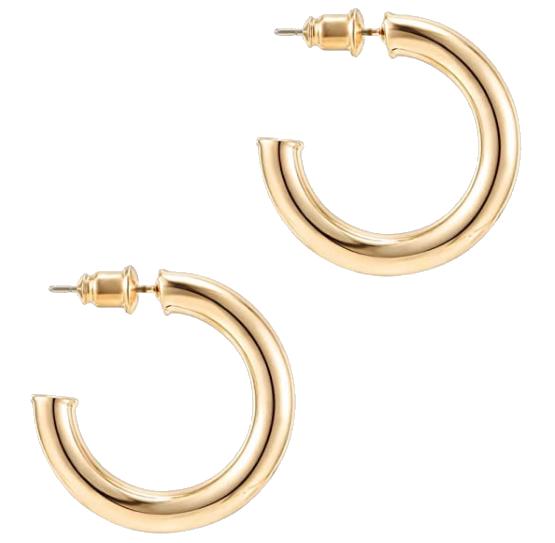 bold gold hoops amazon fashion jewelry