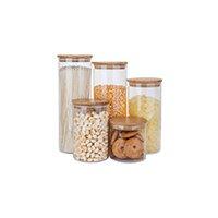 glass jar with wood lid
