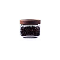 pantry glass jar with wood lid