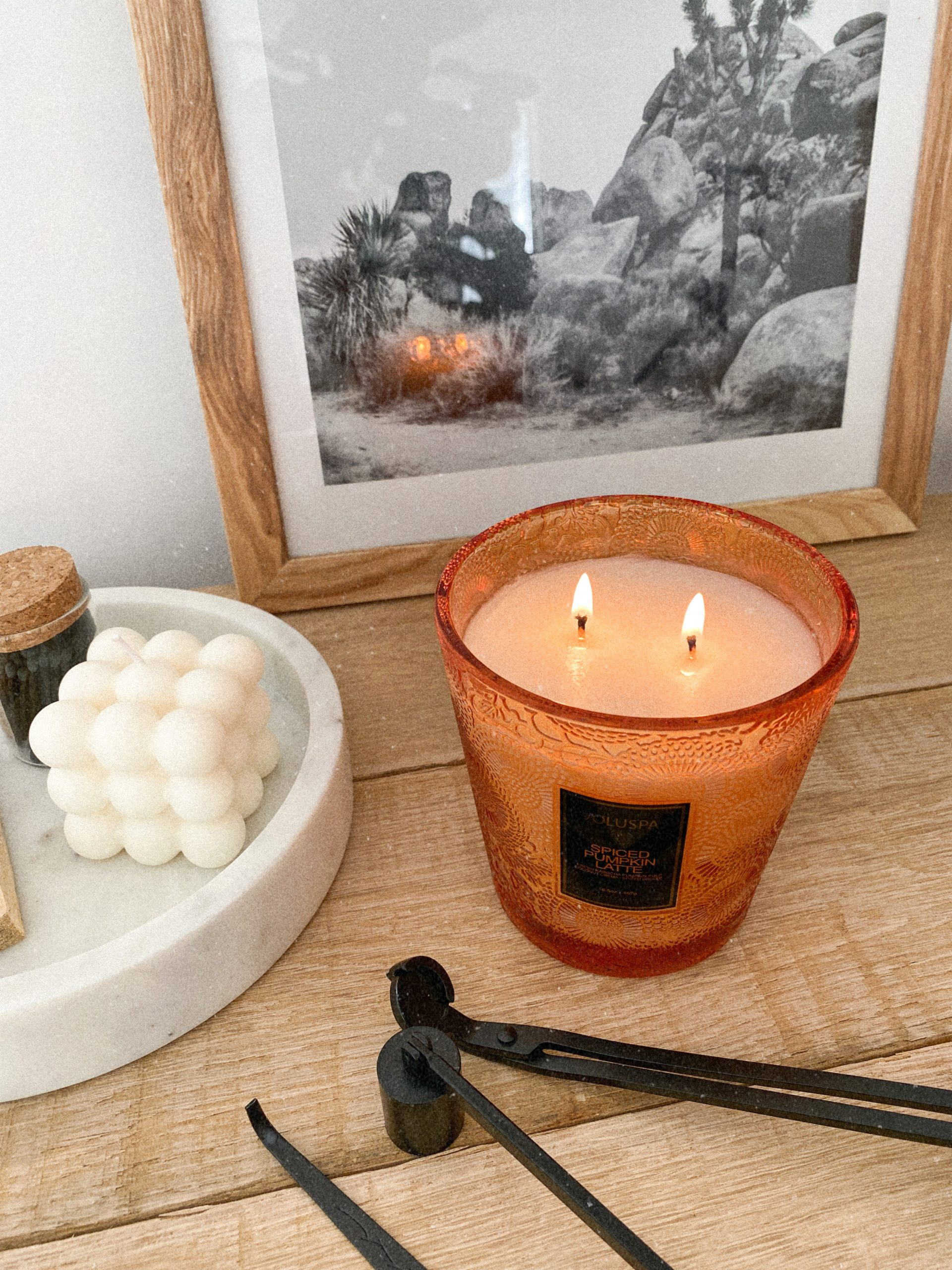 soy fall candle