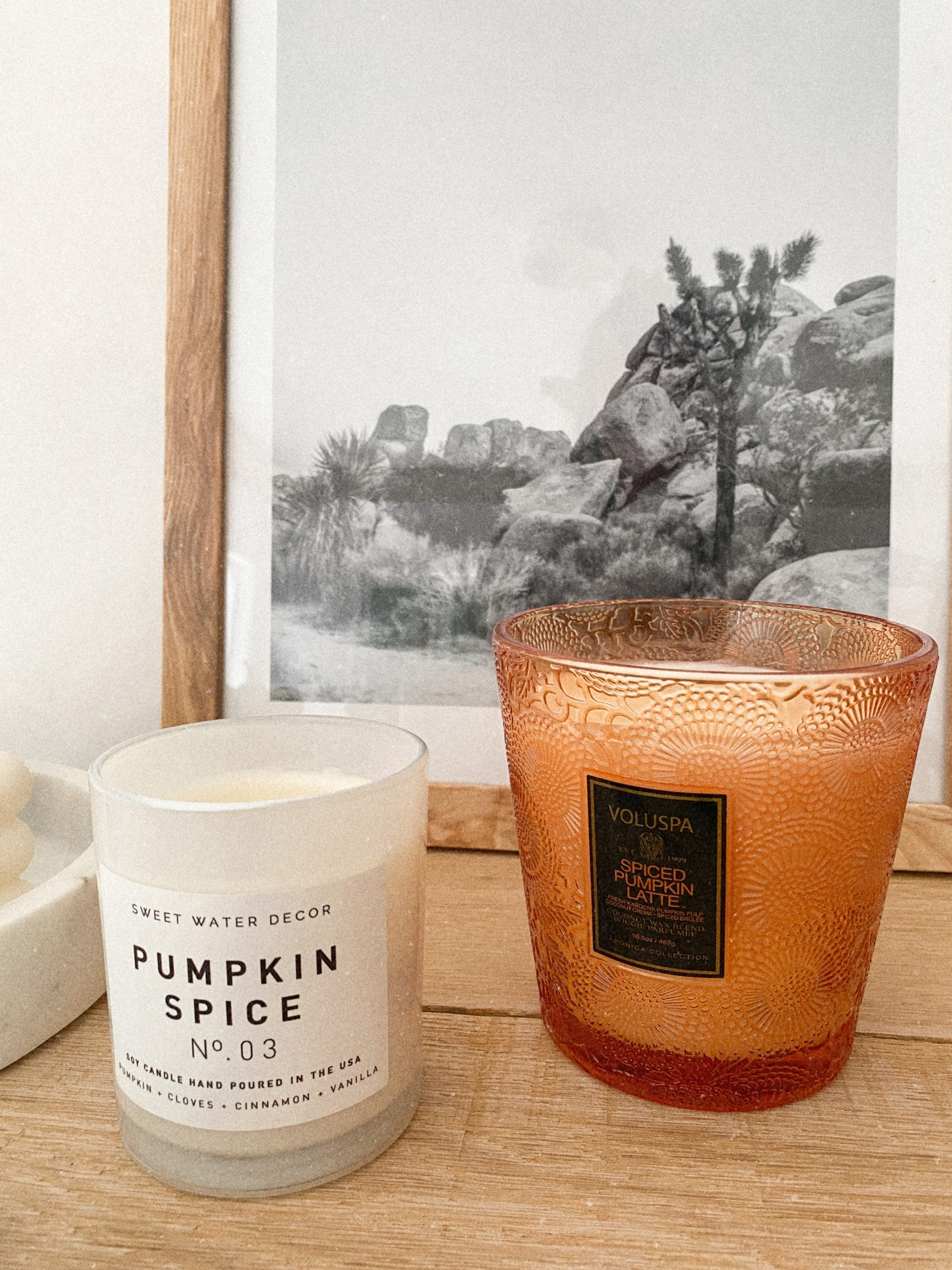 soy fall candles